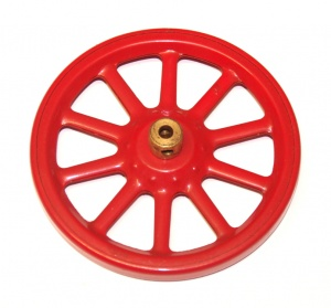 19a Spoked Wheel 3'' Red Original