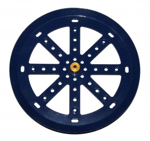 19c Pulley 6'' with Boss Dark Blue Original