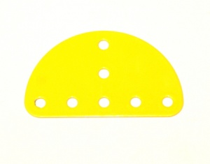 214 Semi-Circular Plate French Yellow Original
