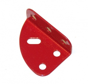 214c Flanged Quarter Plate LH Red