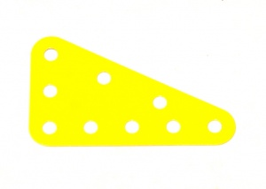 221 Flexible Triangular Plate 5x3 French Yellow Original