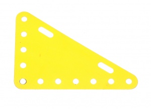 226 Flexible Triangular Plate 7x5 French Yellow Original