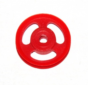22bp3p 1'' Pulley Plastic Triflat Red Original