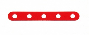 235 Narrow Strip 5 Hole Red Original