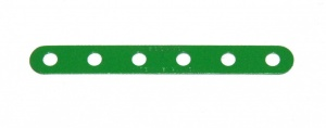 235a Narrow Strip 6 Hole Light Green Original