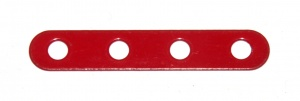 235h Narrow Strip 4 Hole Red Original