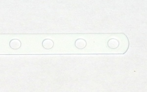 235b Narrow Strip 7 Hole White Original