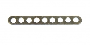 247d Narrow Connector Strip 9 Hole 2 3/8'' Zinc