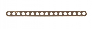 247f Narrow Connector Strip 17 Hole 4 3/8'' Zinc