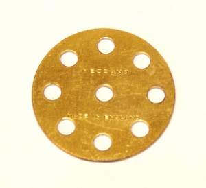 24a Wheel Disk 8 Hole Brass Original