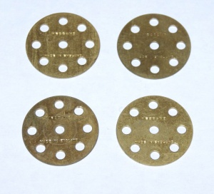 24a Wheel Disk 8 Hole Brass Original x4