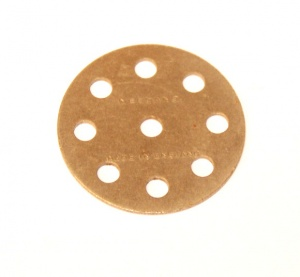 24a Wheel Disk 8 Hole Nickel Original
