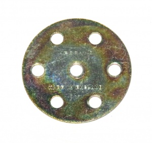 24c Wheel Disk 6 Hole Gold Passivate Original