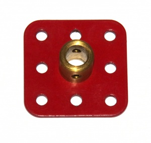 252 Large Axle Bearing Plate Red