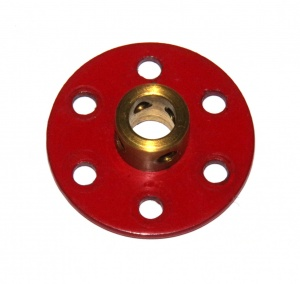 253a Large Axle Bush Wheel Red 6 Hole