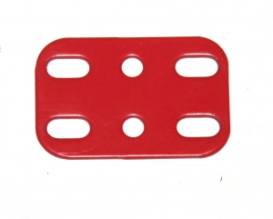 3003-02 Flat Plate 3x2 Hole Red