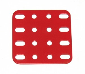 3004-04 Flat Plate 4x4 Hole Red