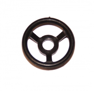 321 Steering Wheel ¾'' Black Plastic Original