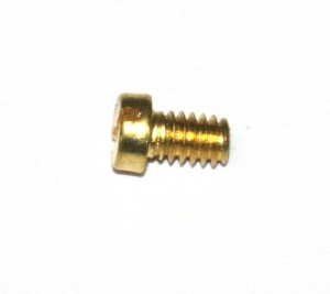 37b Slotted Cheesehead Bolt  ¼'' (6mm) Brass