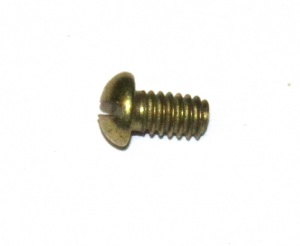37b Slotted Dome Head Bolt ¼'' (6mm) Brass Original