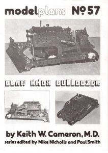 MP57 Blaw Knox Bulldozer Model Plan