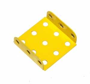 51b Flanged Plate 3x3 Hole French Yellow Original