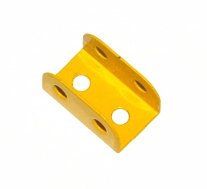 51c Flanged Plate 2x1 Hole UK Yellow Original