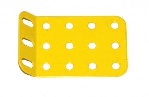 51g Single Obtuse Flanged Plate 5x3 Hole French Yellow Original