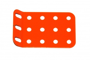 51g Single Obtuse Flanged Plate 5x3 Hole Orange Original