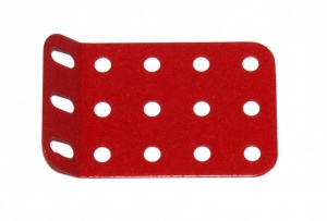 51g Single Obtuse Flanged Plate 5x3 Hole Red Original