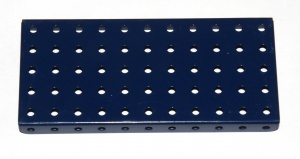52 Flanged Plate 11x5 Dark Blue Repainted