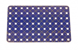 52a Flat Plate 11x7 Hole Blue and Gold Original