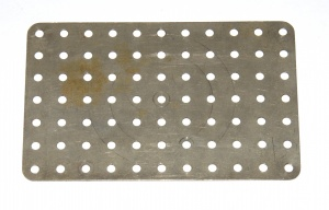 52a Flat Plate 11x7 Hole Nickel Original