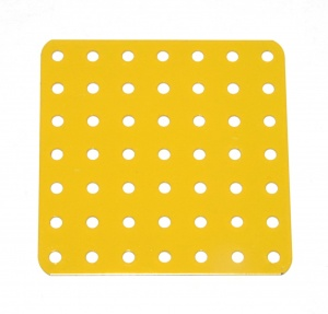 52f Flat Plate 7x7 Hole French Yellow Used