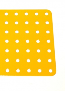 52c Flat Plate 7x19 Hole French Yellow