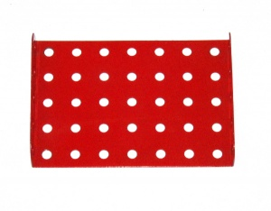 53 Flanged Plate 7x5 Light Red Original