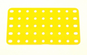 53a Flat Plate 9x5 Hole French Yellow Original