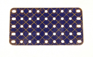 53a Flat Plate 9x5 Hole Blue and Gold Original