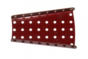 54 Flanged Sector Plate Dark Red Original