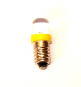 540j LED Bulb Yellow E10 12 Volt