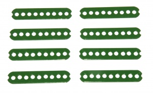 56b Connector Strip 2½'' Green x8