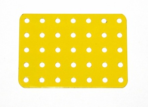 71 Flat Plate 5x7 Hole French Yellow Original