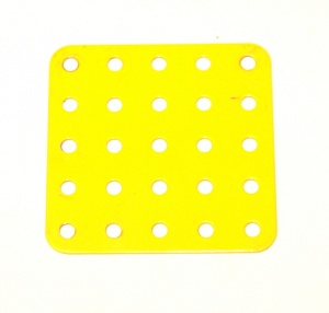 72 Flat Plate 5x5 French Yellow Original