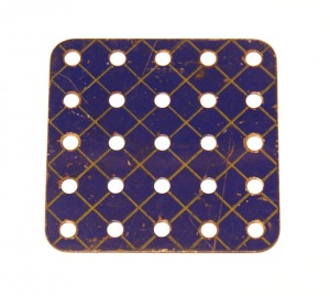 72 Flat Plate 5x5 Hole Blue and Gold Original