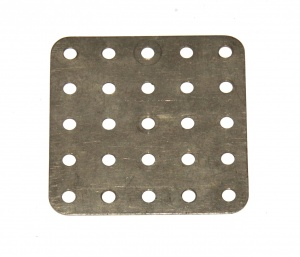 72 Flat Plate 5x5 Hole Nickel Original