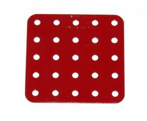 72 Flat Plate 5x5 Hole Mid Red Repainted