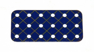 73 Flat Plate 3x6 Hole Blue and Gold Original