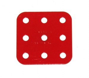 74 Flat Plate 3x3 Hole Light Red Original