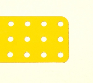 74f Flat Plate 3x13 Hole French Yellow