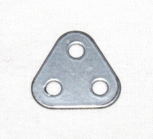 77 Triangular Plate 2x2x2 Silver Original